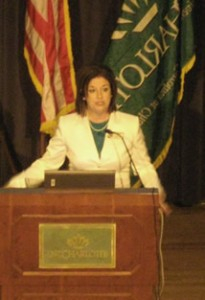 Speaking at UNC Charlotte